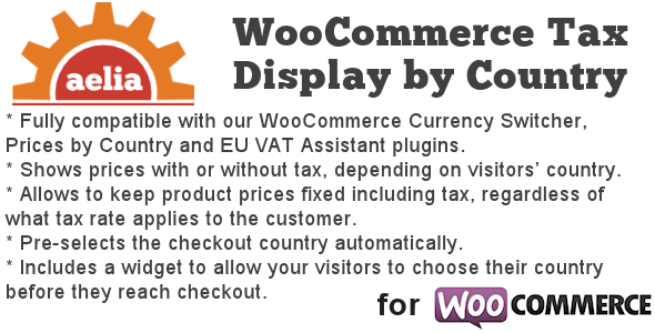 Tax Display by Country for WooCommerce 增值税/税务插件 – v1.12.1.191220