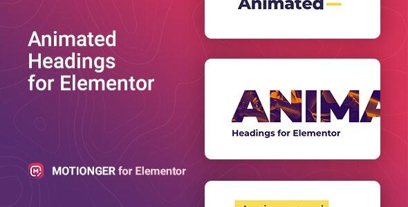 Motionger – Elementor 可视化动画标题编辑插件 – v1.0.0