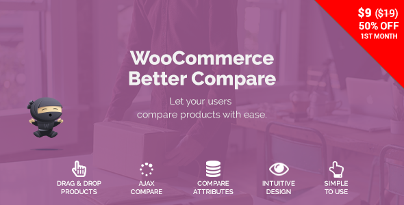 WooCommerce Compare Products 产品比较对比插件 – 1.3.7