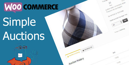 WooCommerce Simple Auctions 拍卖插件 – v1.2.37