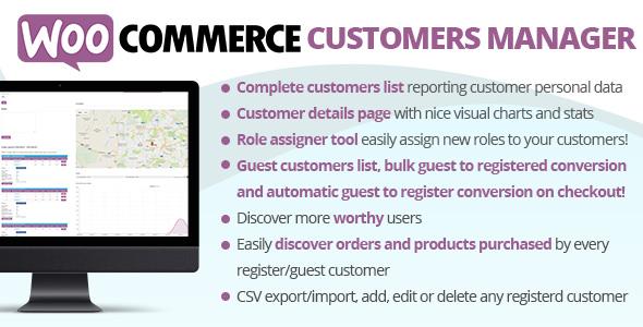 WooCommerce Customers Manager 扩展插件 – v24.9