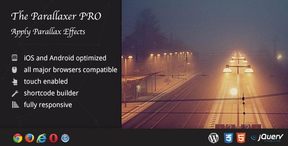 The Parallaxer WP – 视差内容构建器WordPress插件 – v3.20