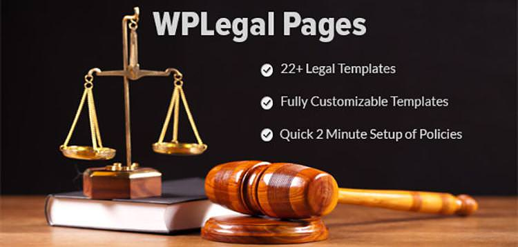 WP Legal Pages Pro – 法律条款隐私政策WordPress插件 – v7.6