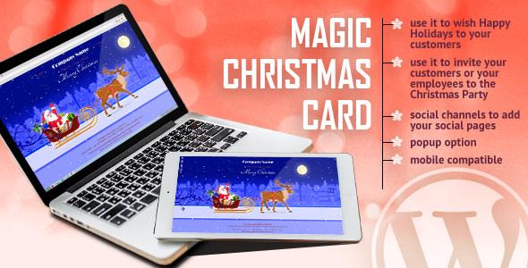 Magic Christmas Card With Animation 圣诞晚会邀请贺卡插件 – v1.0.1