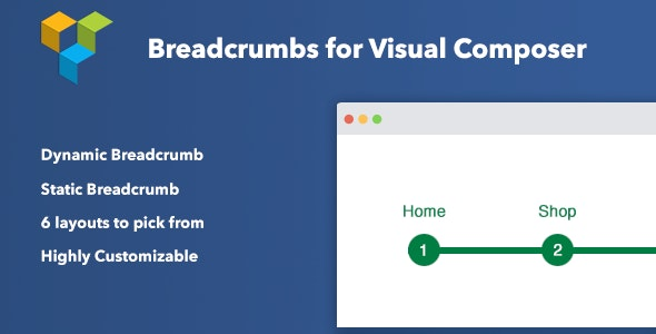 Breadcrumbs for Visual Composer 网站可视化面包屑导航插件 – v1.2