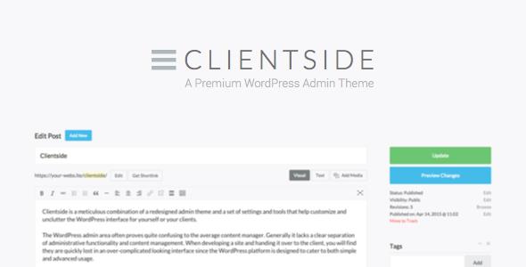 Clientside – WordPress后台模板插件 – v1.14.5