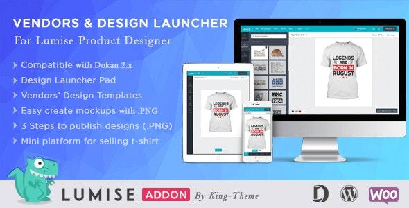 Vendors & Design Launcher – 多供应商产品设计插件