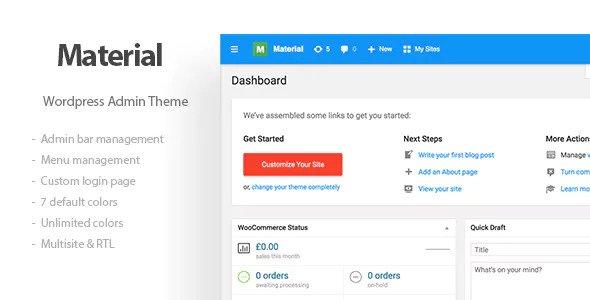 Materil – WordPress后台管理模板主题 – v1.2.0