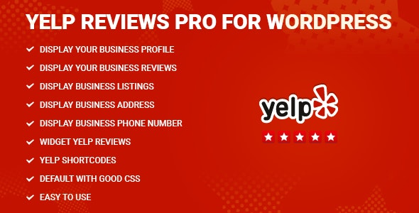 Yelp Reviews Pro for WordPress 专业评论小工具插件 – v1.9