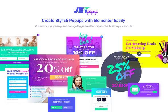 JetPopup – 弹窗Elementor扩展插件 – v1.3.1