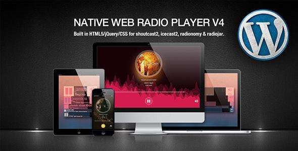 Native Web Radio – 网络播放器媒体播放WordPress插件 – v4.20.01.18