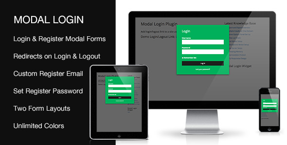Modal Login – 前端注册登录WordPress插件 – v2.0.5