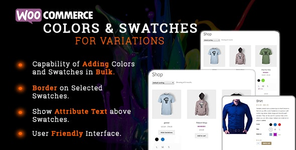 WooCommerce Colors and Swatches for Variations 颜色可变属性插件 – v1.0.2
