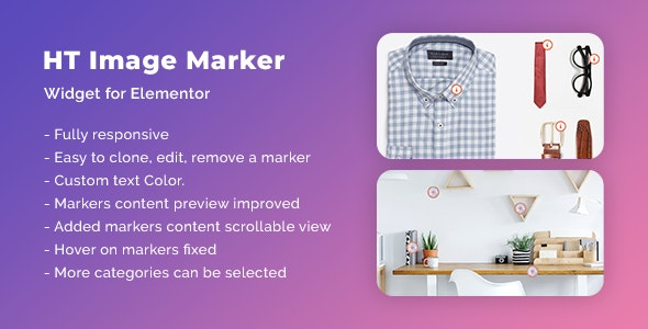 HT Image Marker for Elementor 可视化图像热点标记插件