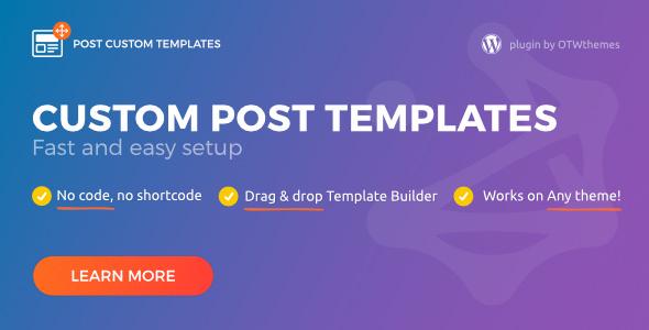 Post Custom Templates Pro – 自定义文章模板WordPress插件 – v1.11