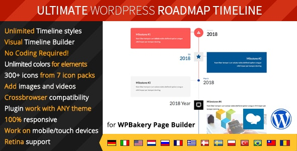 Ultimate Roadmap Timeline – WordPress 响应式时间轴插件 – v1.0.1