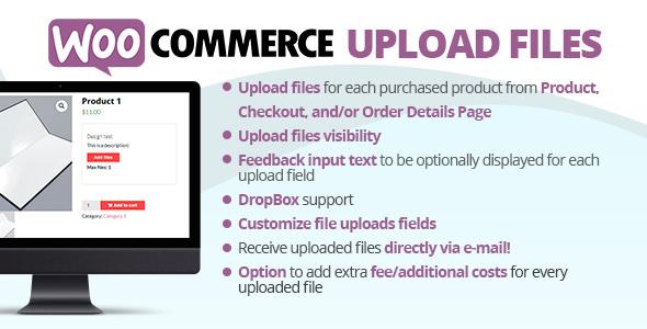 WooCommerce Upload Files 订单附件上传文件插件 – v57.9