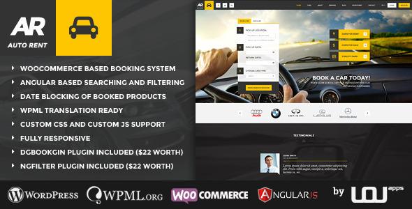 Auto Rent – 汽车租赁WordPress主题 – v4.0.2