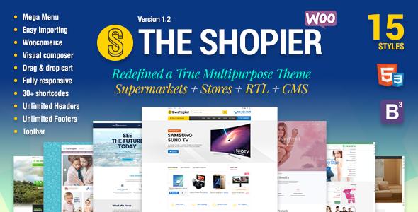 Shopier – 响应式多用途WooCommerce主题 – v1.4.5