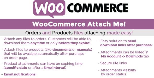 WooCommerce Attach Me! 订单附加文件插件 – v1.8.1