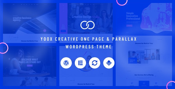 Yoox – 创意单页视差网站WordPress主题 – v1.0