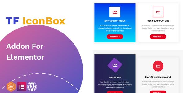 TF IconBox Addon for elementor 可视化图标盒子编辑器插件 – v1.0.0
