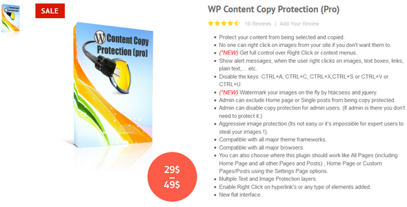 WP Content Copy Protection Pro 禁止复制内容保护插件 – v9.6