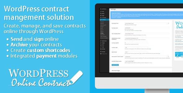 WP Online Contract 在线合同内容管理插件