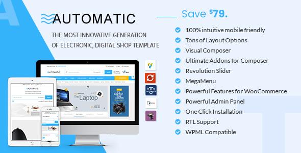 Automatic – 数码电子产品在线商店WooCommerce主题 – v2.0