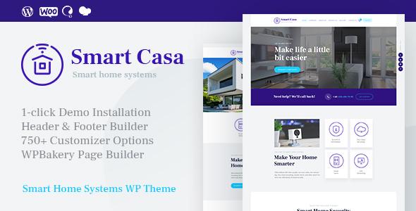 Smart Casa – 家庭自动化智能家居网站模板 – v1.0.5