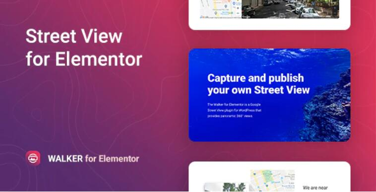 Walker – Google Street View Elementor 谷歌地图街景插件 – v1.0.1