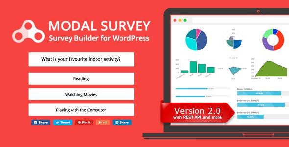 Modal Survey – 问卷调查测试WordPress插件 – v2.0.1.6