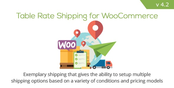 Table Rate Shipping for WooCommerce 附加费运费表单插件 – v4.2.1