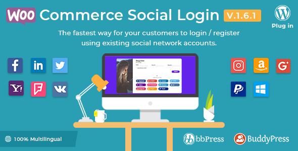 WooCommerce Social Login 社交登陆插件 – v2.3.0