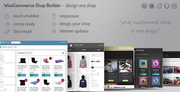 WooCommerce shop page builder 商店布局插件 – v1.44