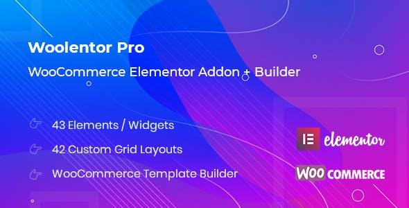 WooLentor Pro – WooCommerce Elementor 可视化编辑器 – v1.5.1