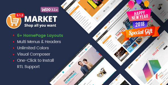 Market – 网上商店WooCommerce主题 – v2.2.1