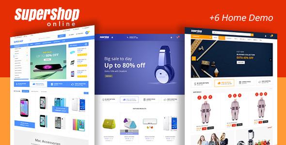Super Shop – 超级市场在线商店WordPress主题 – v1.9