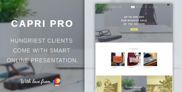 Capri Pro – 极简电子商务网站模板WordPress主题 – v1.1.2.2
