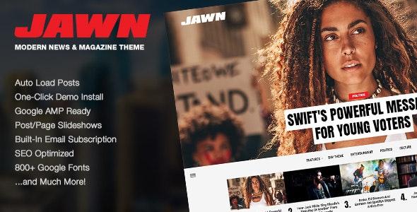 Jawn – 现代时尚新闻杂志博客WordPress主题 – v1.4.2