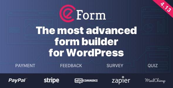 eForm – 表单生成器WordPress插件 – v4.14.2