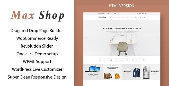 Max shop – 商店电商网站模板WooCommerce主题 – v1.1.2