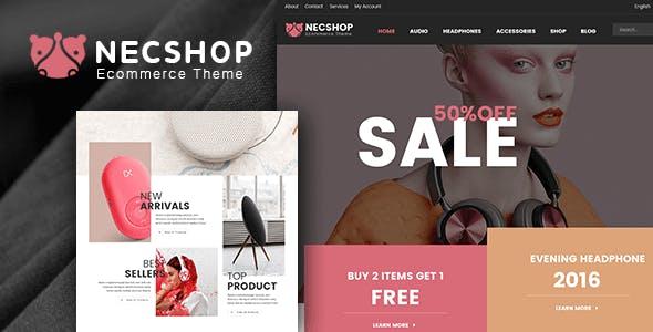 Nec Shop – 在线商城WooCommerce模板 – v1.9