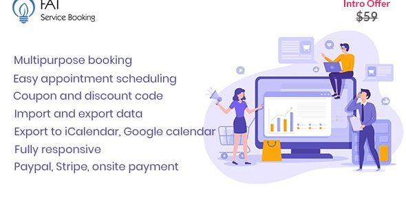 Fat Services Booking – 自动在线预订日程安排插件 – v2.10