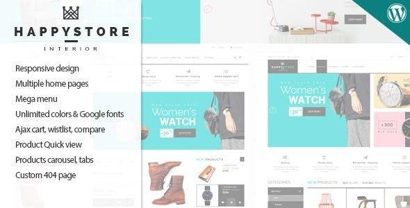 HappyStore – 响应式WooCommerce商店模板 – v1.6.3