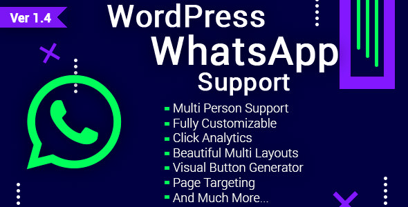 WordPress WhatsApp Support 客服聊天插件 – v1.9.7