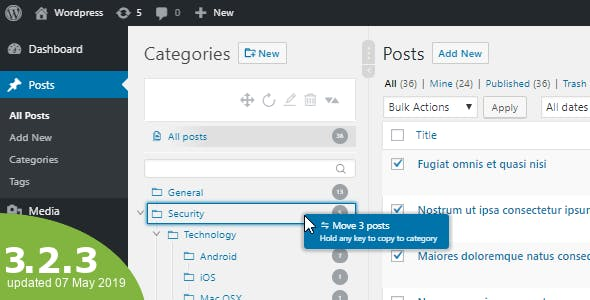 WordPress Real Category Management – 分类自定义树形菜单 – v3.3.2