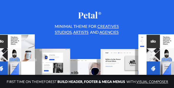 Petal – 创意机构工作室作品展示WordPress主题 – v1.2.0