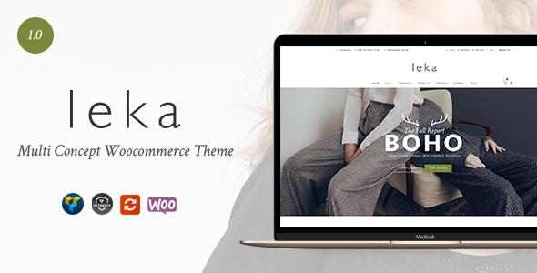 Leka – 高端时尚服饰在线商店WooCommerce主题 – v1.0