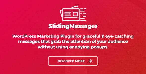 Sliding Messages – 弹窗消息营销WordPress插件 – v3.4